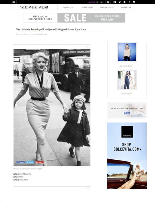 Jayne Mansfield by Photographer Susan Wood