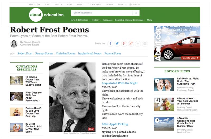 Portrait of Robert Frost