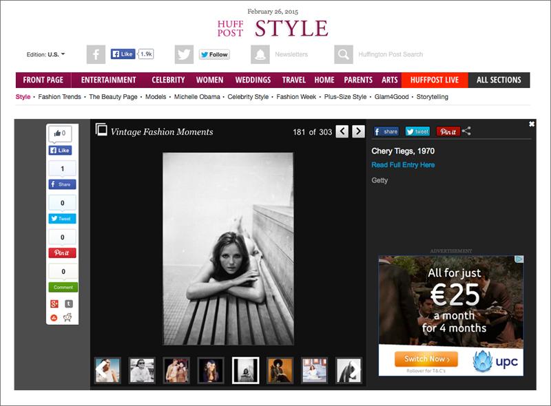 Cheryl Tiegs in The Huffington Post
