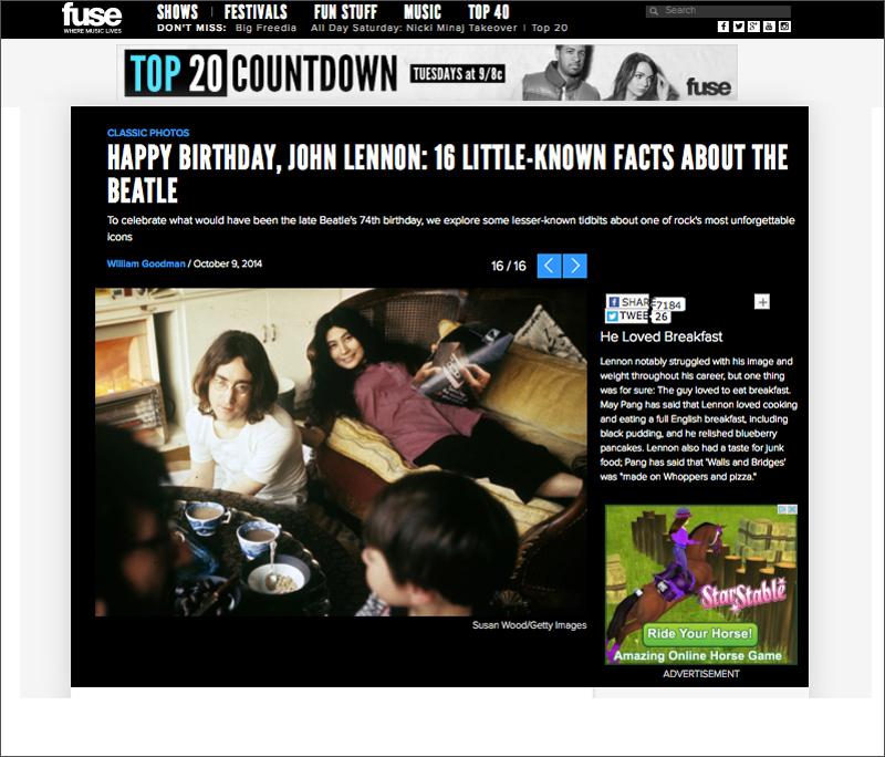 John & Yoko on Fuse.com