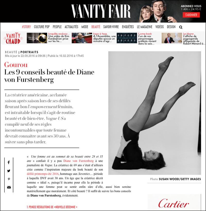 Diane Von Furstenberg in Vanity Fair