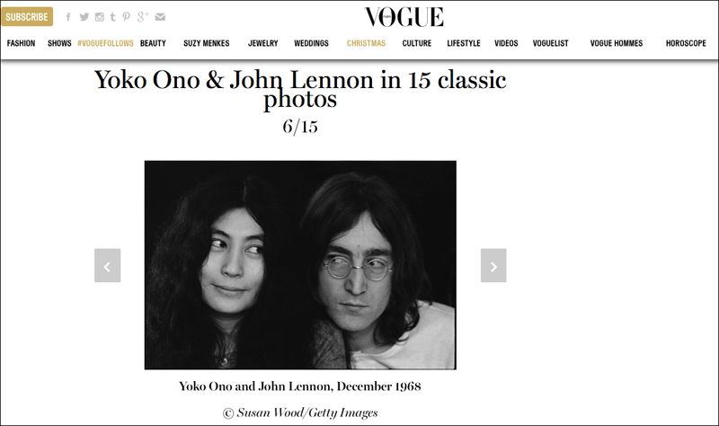 John Lennon & Yoko Ono in French Vogue
